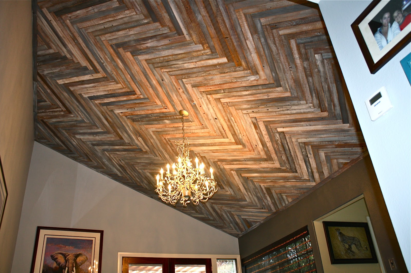 please click on the individual picture to see the larger format - Reclaimed Wood Ceiling