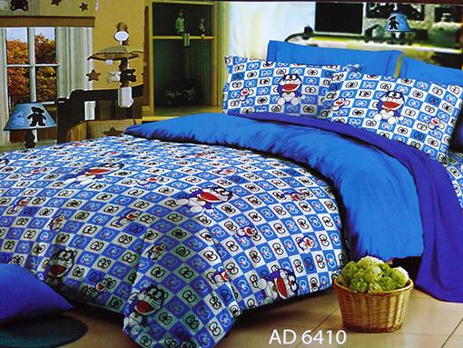 Sprei Catra Motif Doraemon Biru