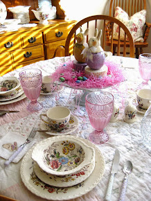 Small Easter TABLE SETTING