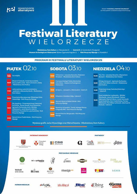 Mój własny festiwal literacki w moim mieście! Wielorzecze!