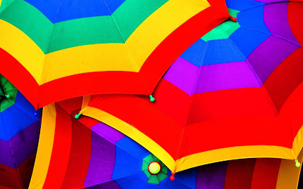 wallpaper payung, gambar payung warna-warni