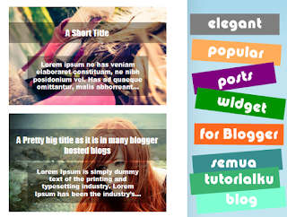 Elegant Popular Post Widget Blogger Keren Abis