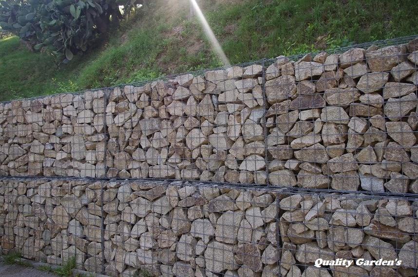 Quality garden 39 s muros de contenci n con piedra natural - Muros de piedra natural ...