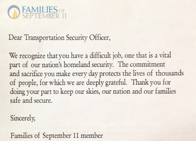 Screenshot of Families 0f 9/11 Letter. 