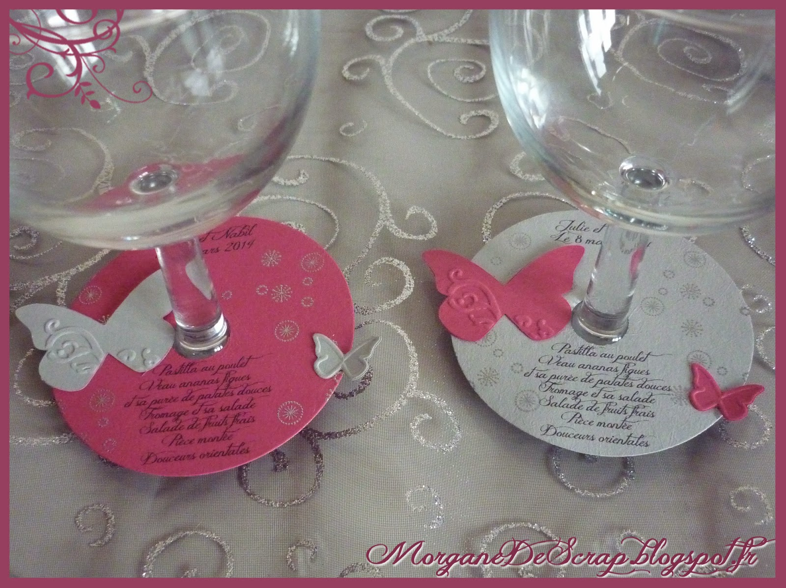 Morgane de scrap menus de mariage for Idee menu original