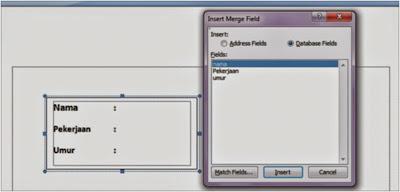 Membuat Mail  Merge dalam Microsoft Word