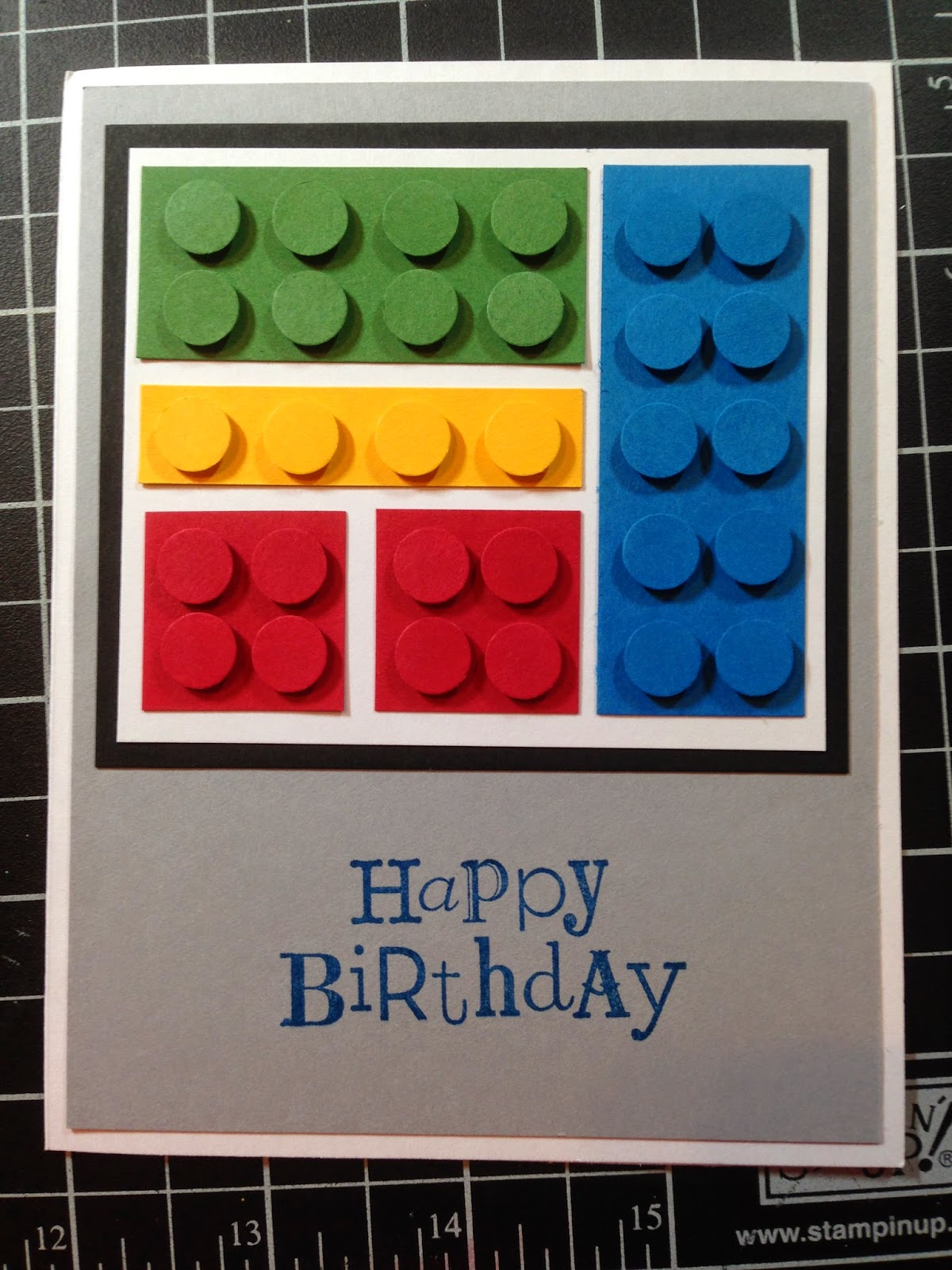 scrappingwest Lego Birthday Card – Lego Birthday Card