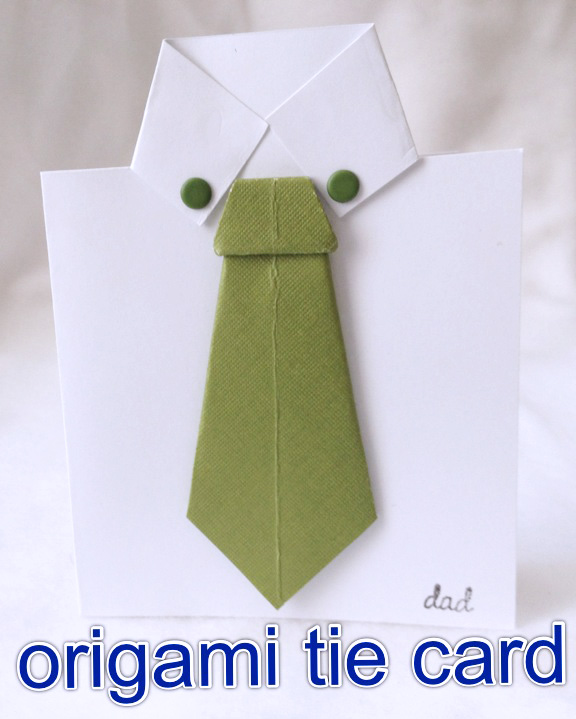Grated Origami Tie Fathers Day Cards