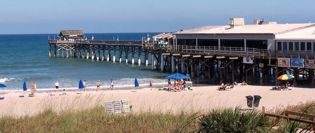 Tea with mrs nesbitt first day at beach for Cocoa beach pier fishing