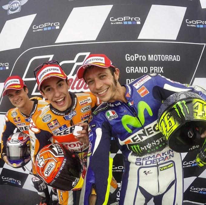 Klasemen MotoGp 2015 per Sachsenring - Rossi Menjauh Marquez Mendekat