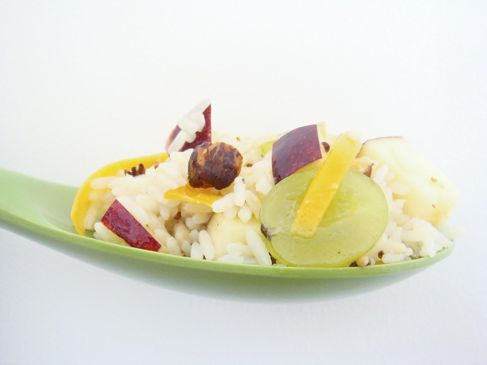 L 39 amour des mets salade de riz pommes raisins - Salade de riz pour 10 personnes ...