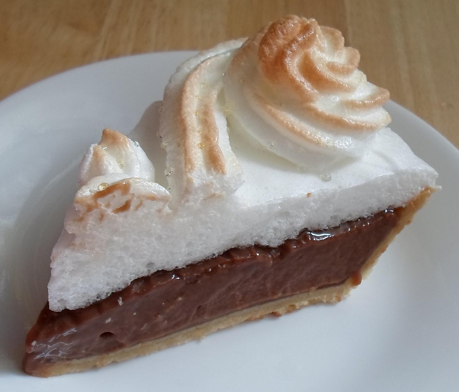 Happier Than A Pig In Mud: Chocolate Cream Meringue Pie