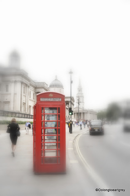 Iconic Red Phone Box, London, England