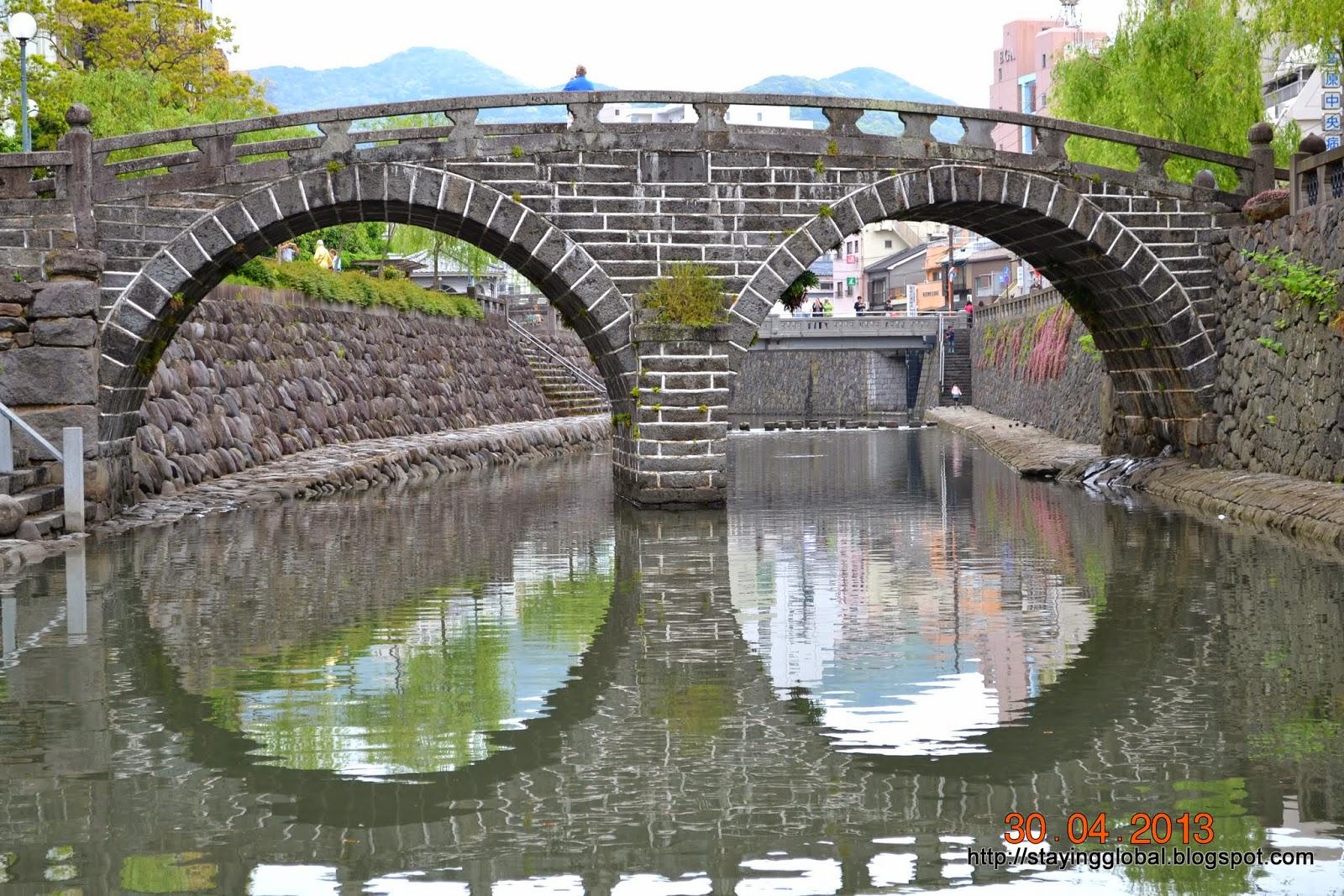 Most Okularowy (Meganebashi), Nagasaki - najstarszy kamienny most łukowy w Japonii