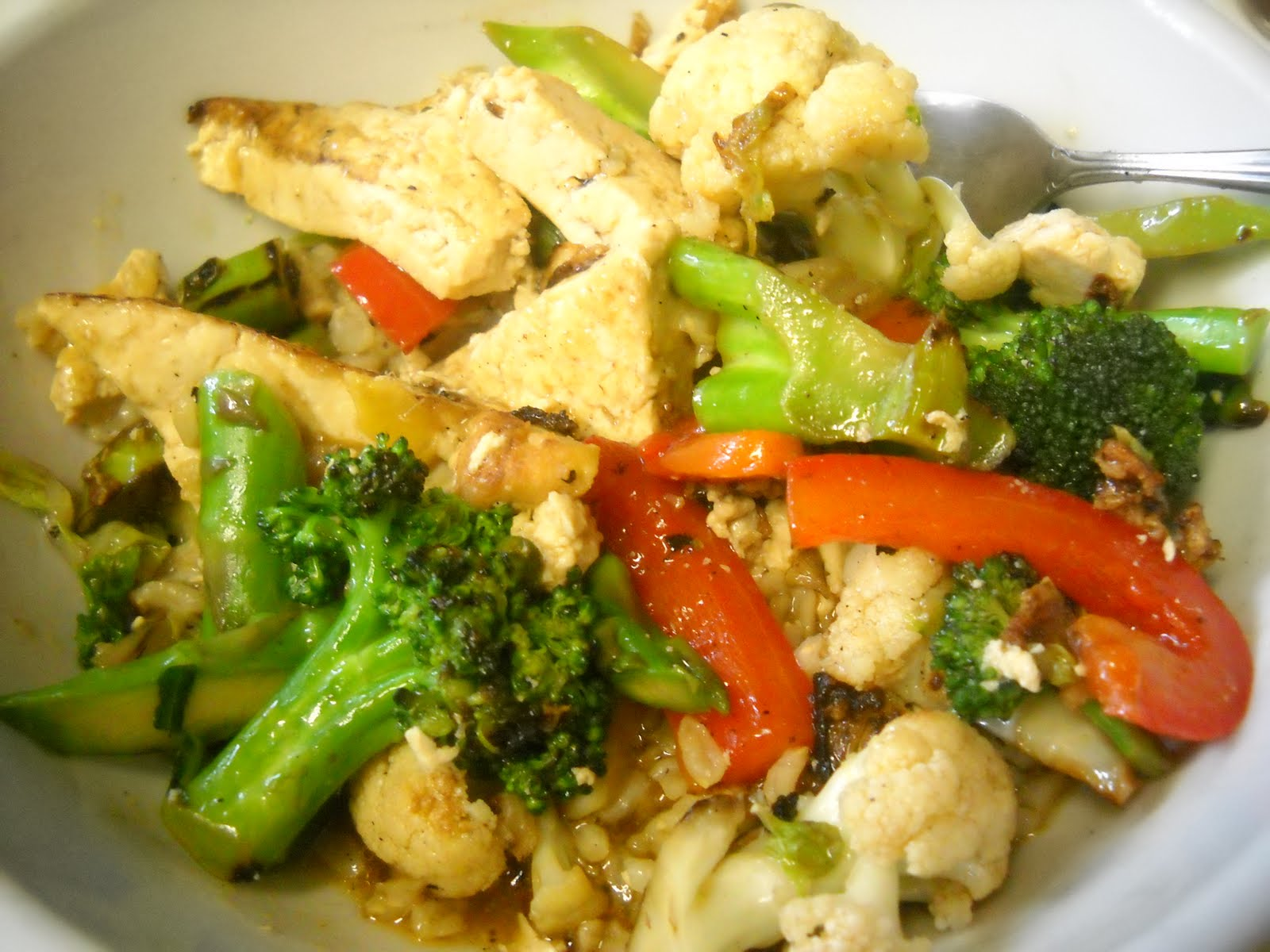 Blessed Vegan Life: Wok Tofu Stir-Fry with Sesame Oil