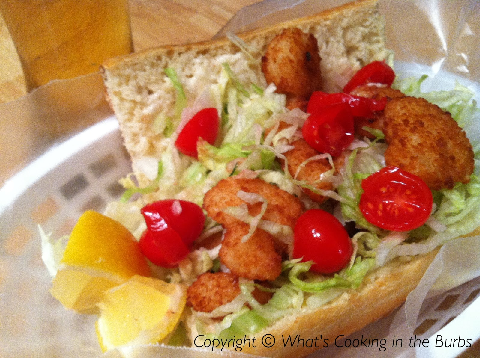 What's Cooking in the Burbs: Shrimp Po Boy Sandwich