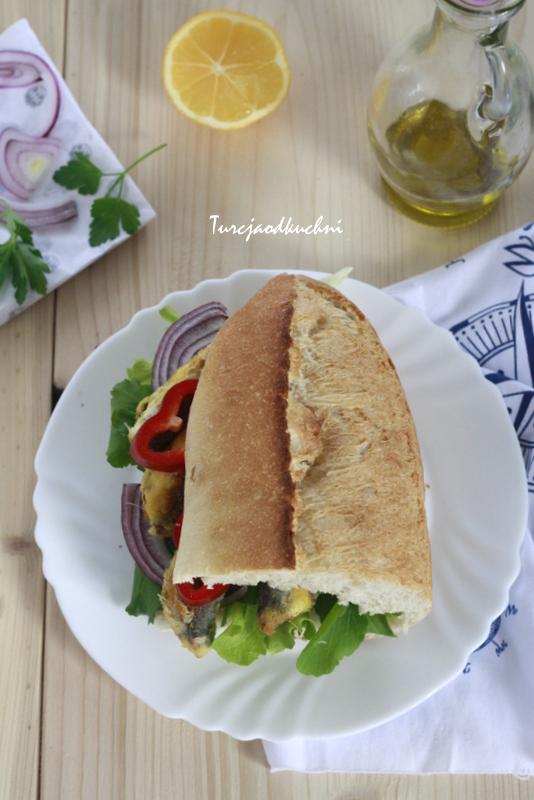 Turecka kanapka z rybą / Balık ekmek
