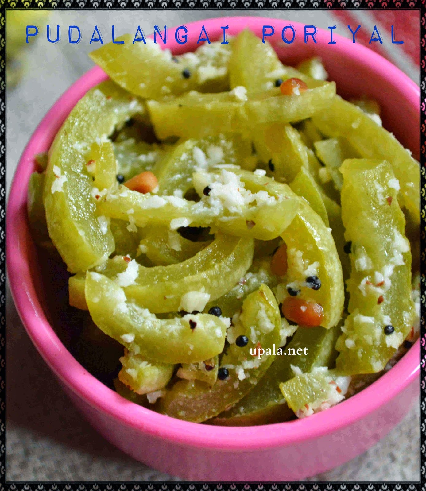 pudalangai poriyal/snake gourd