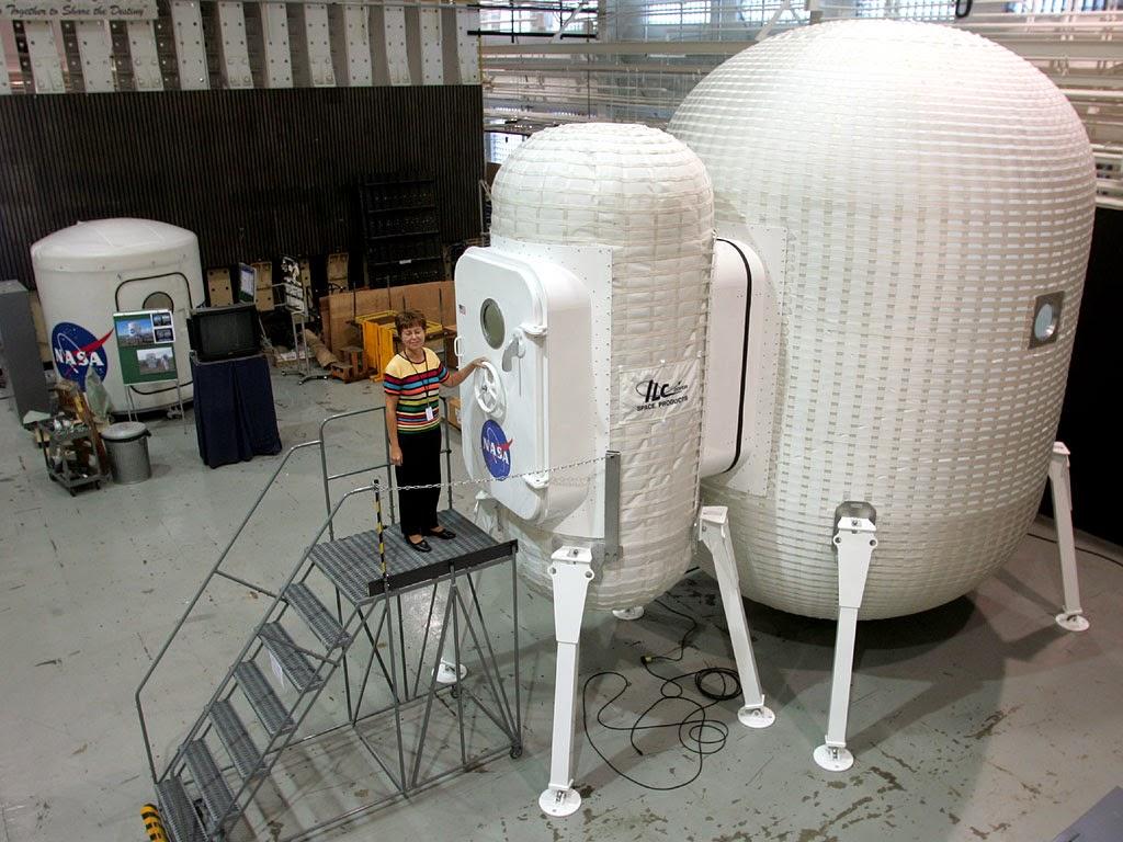 Módulo lunar inflable desarrollado por la NASA.