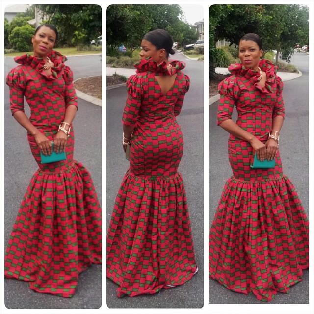 Nigerian Ankara Fashion Style Long Ankara Style Gown Debonke House Of Fashion