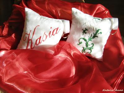 Personalizowane poduszki z różą/ Personalized pillows with rose