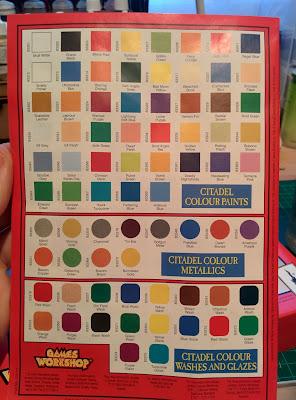 Citadel Colour Paint Set 1994 - Paints