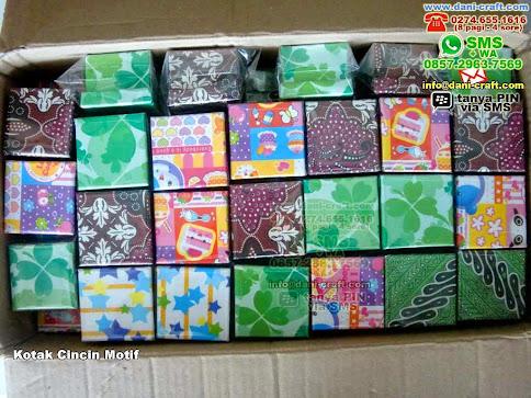 Kotak Cincin Motif Karton Bogor
