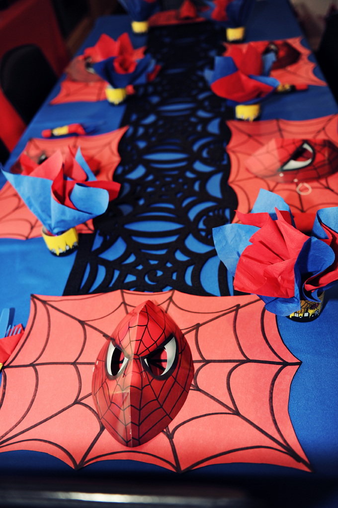 The Party Wall Spiderman Birthday Party Part 4 Decorations