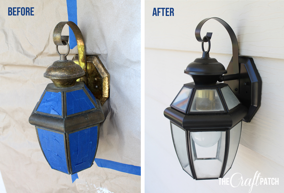 Easy Exterior Light Update Thecraftpatchblog Com