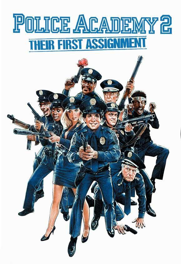 Poster Of Police Academy 2 1985 In Hindi Dual Audio Bluray 720P Free Download