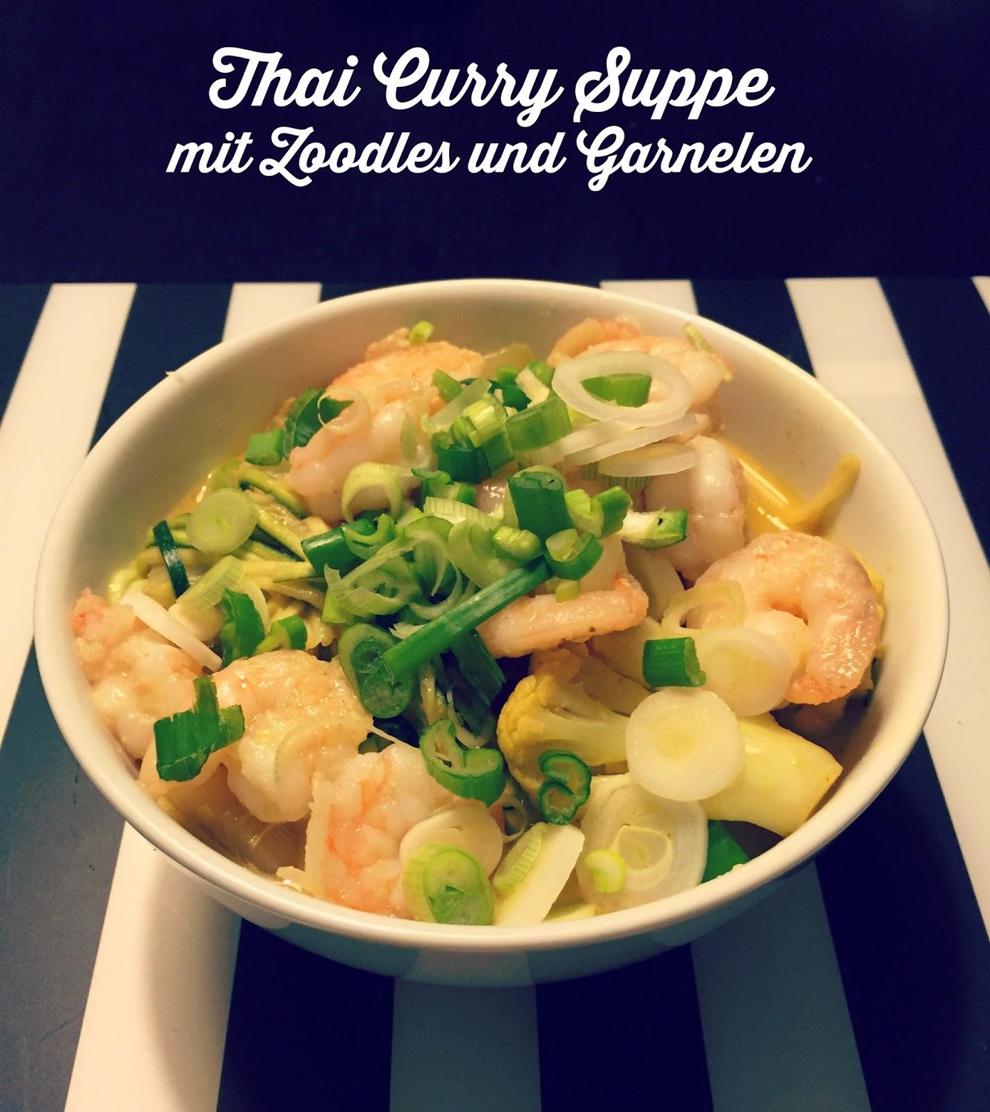 zoodle rezepte part 2 thai curry suppe mit zoodles garnelen superzisch. Black Bedroom Furniture Sets. Home Design Ideas