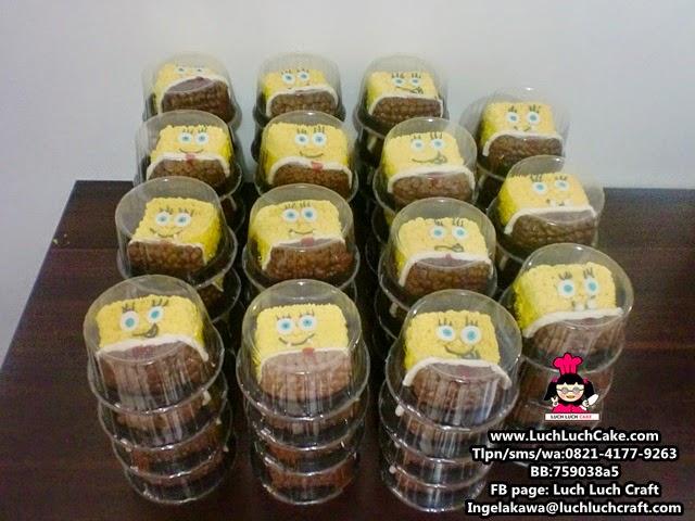 Mini Cake Spongebob Untuk Souvenir Ulang Tahun