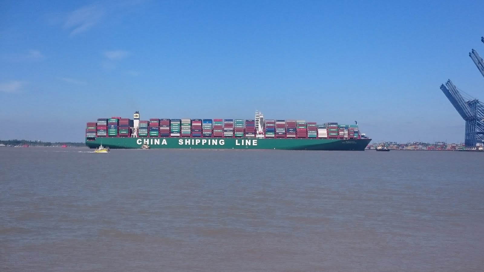 CSCL Arctic Ocean Arriving at the Port of Felixstowe 10th May 2017