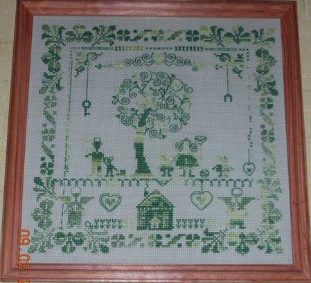 Канва для вышивки дом
