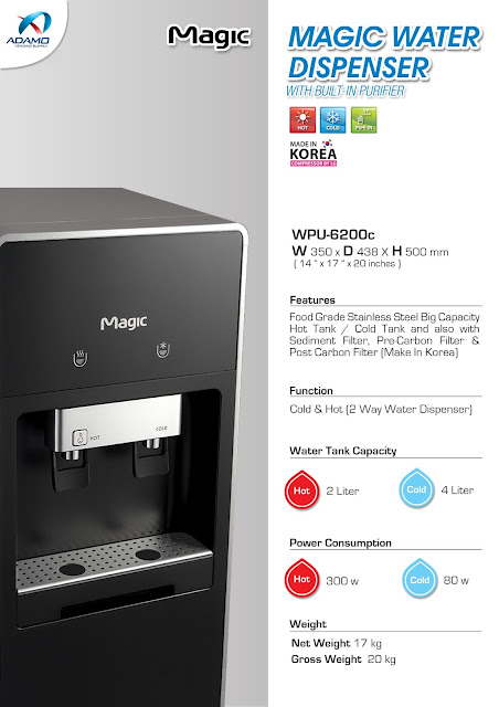 water dispenser black