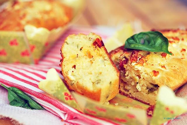 Cake Chorizo Tomate Sechee Feta