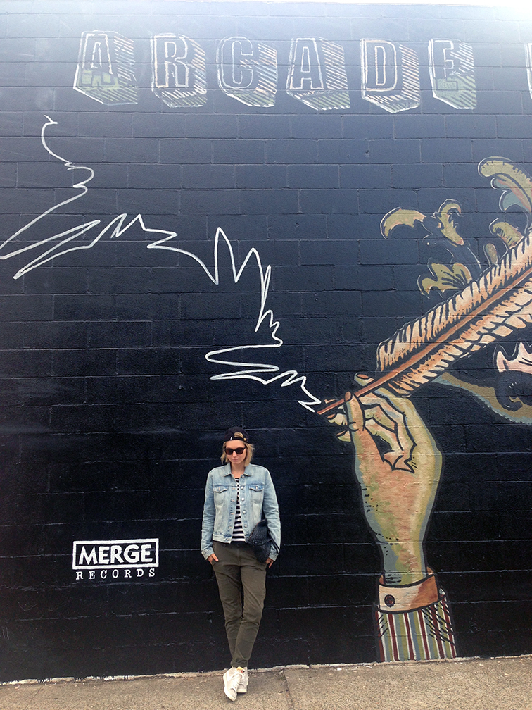 Arcade Fire mural in Brooklyn New York, street style, fashion over reason
