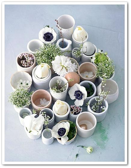 blommpr påsk, flowers easter, vit påskdekoration blommor, white easter flowers