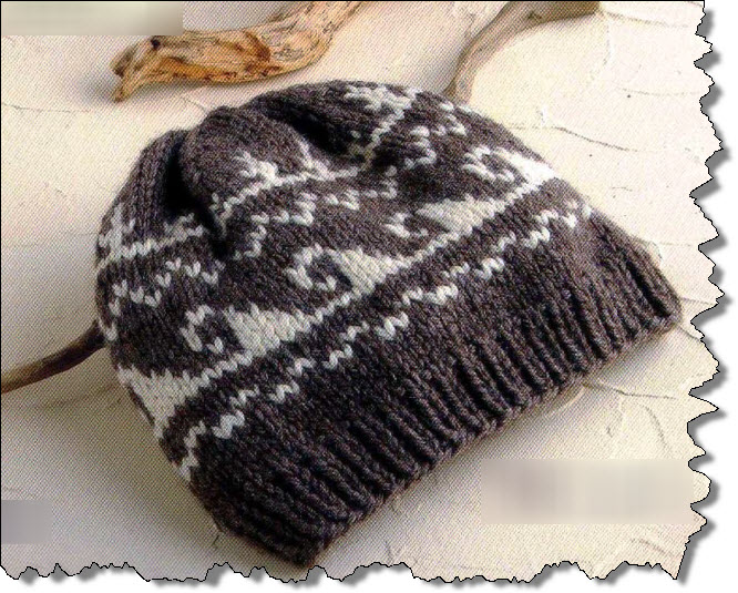 knitting hats with beauty patterns