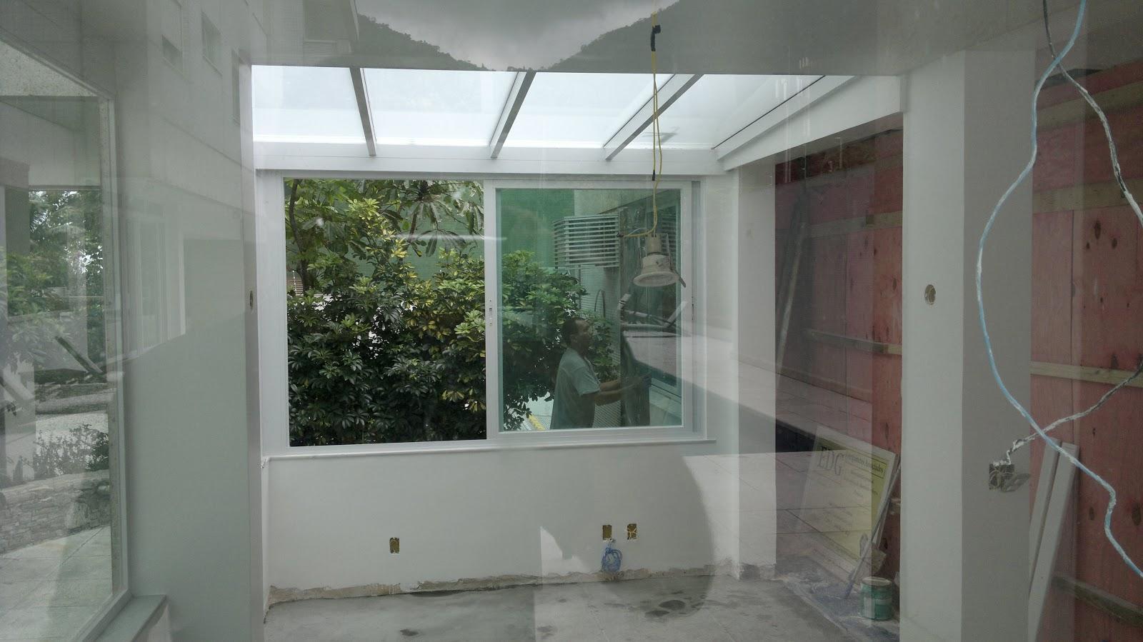 #5D4944  : Obra de ampliação de uma academia com telhado de vidro 1916 Janela De Aluminio Sob Medida Rio De Janeiro