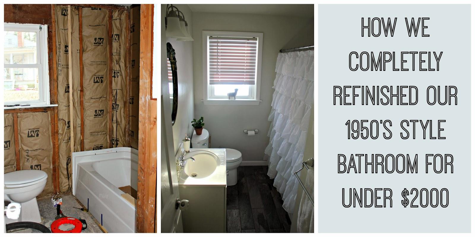 2000 complete diy bathroom remodel for Bathroom remodel under 2000