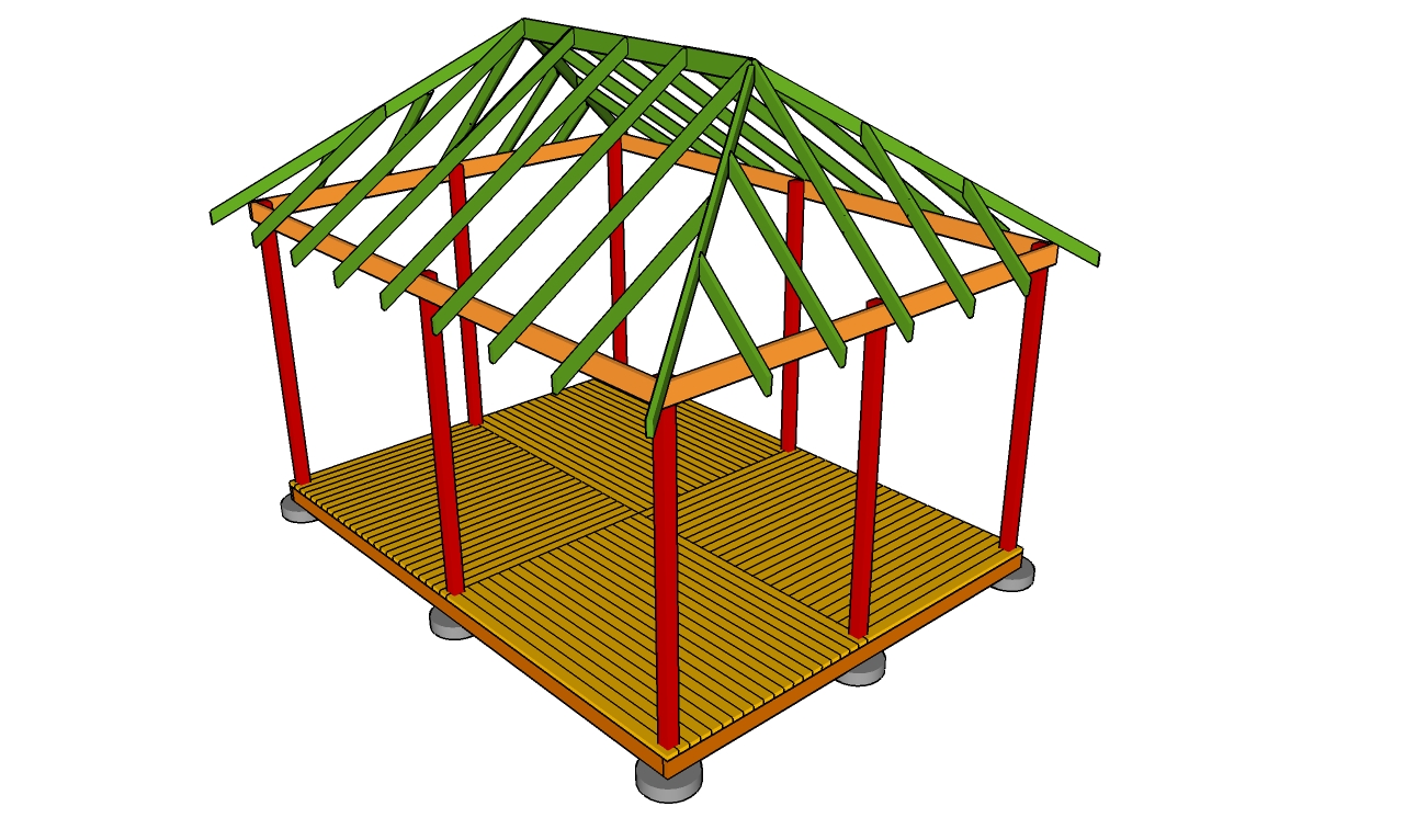 Free gazebo plans how to build a gazebo free gazebo plans for Average cost to build a pavilion