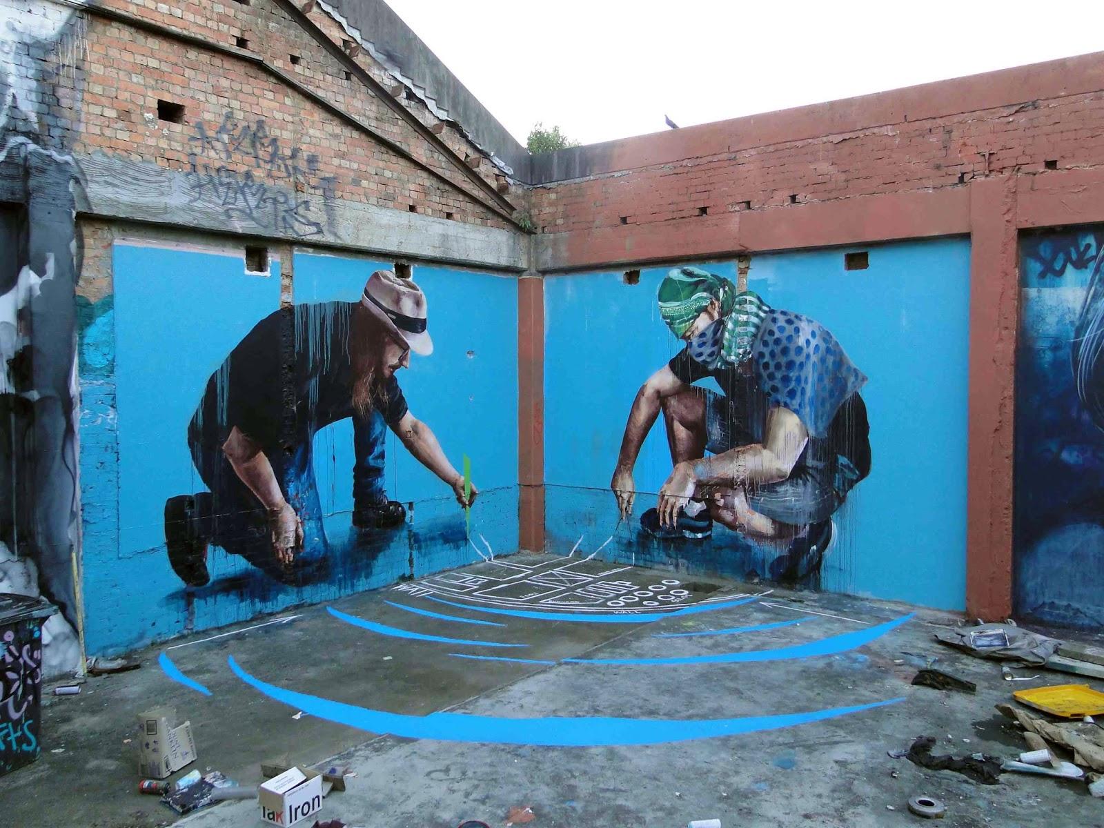 Fintan magee new mural in brisbane australia for Australian mural