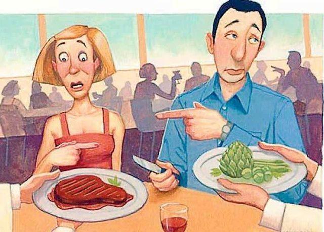 vegitable vs meat diet