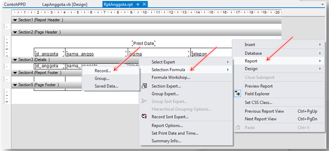 Cara Membuat Laporan Crystal Report dengan Parameter dan Query LIKE (VB.NET)