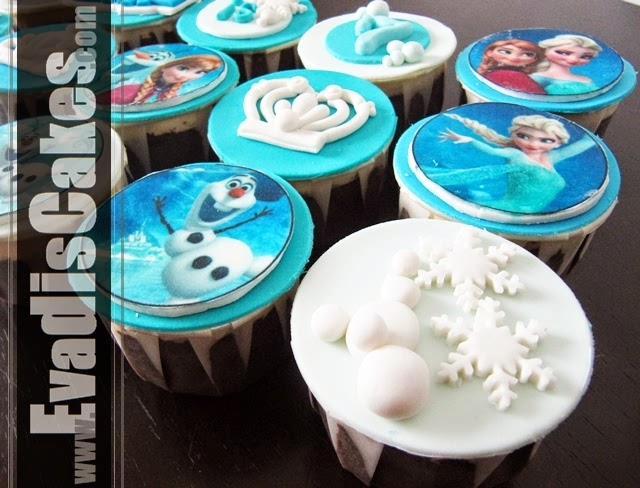 Closer view picture of Frozen cupcakes