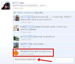 Trik Membuat Komentar Anonim di Facebook - Berkomentar Secara Rahasia di Facebook
