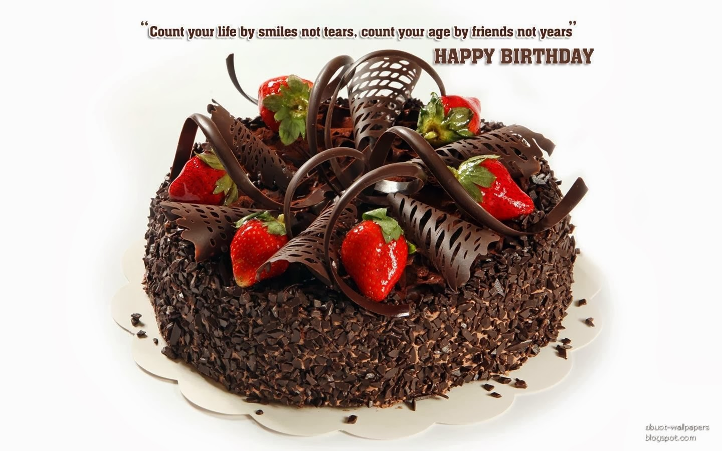 Amazing Chocolate Birthday Cake With Real Strawberries Excellent