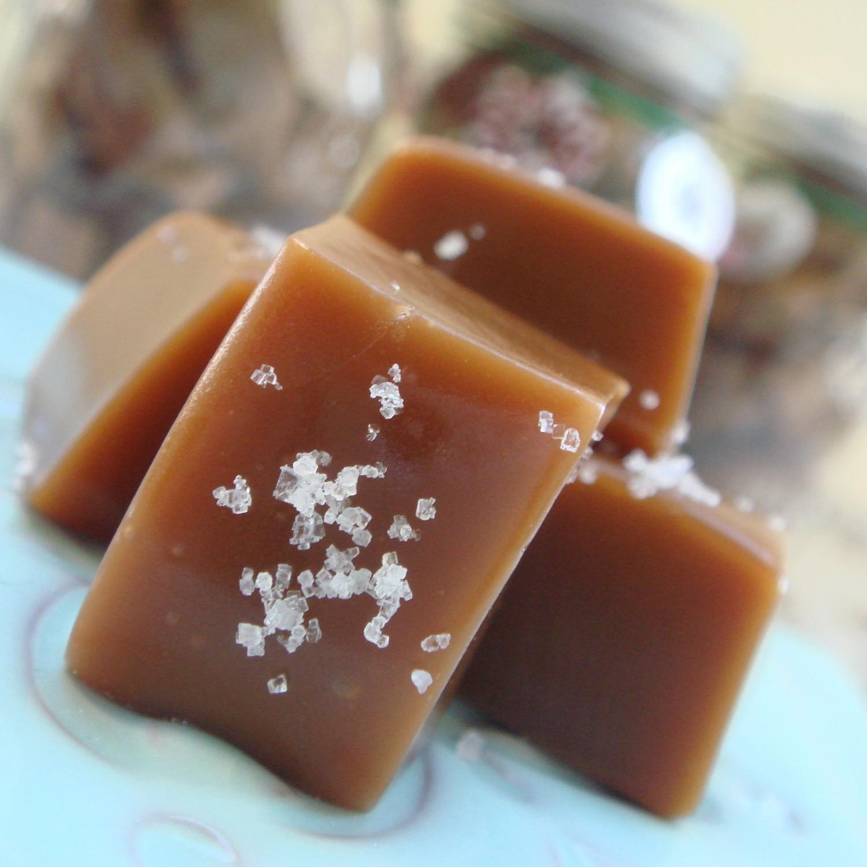 Fleur de Sel Caramels (Makes 16 Caramels)