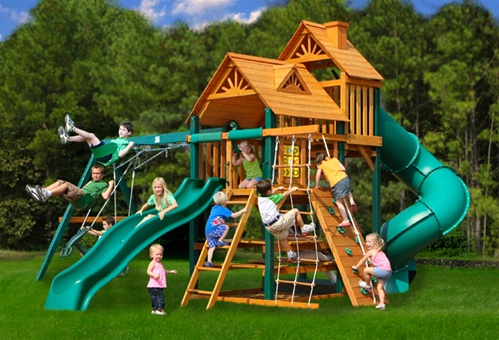 Fun funky baby outdoor playsets give kids a fun funky time for Play yard plans
